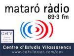 Logotip de Mataró Ràdio juntament amb el del CEV